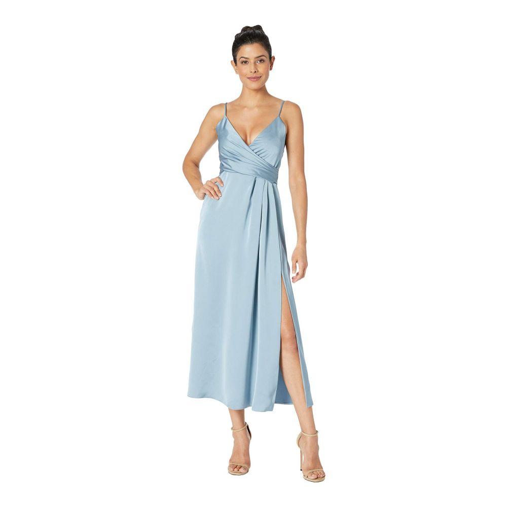 ジル スチュアート JILL JILL STUART レディース ワンピース・ドレス ワンピース【T-Length Satin Wrap Dress】Glacier