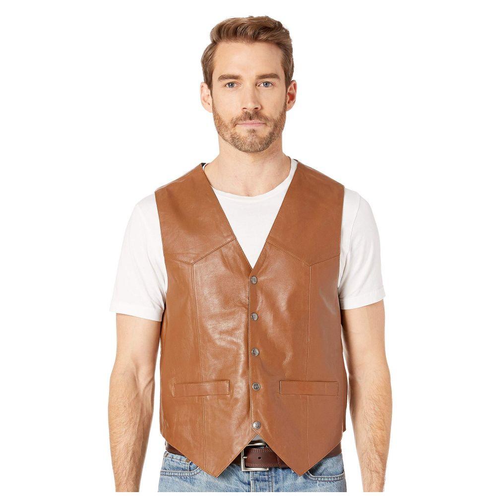 スカーリー Scully メンズ トップス ベスト・ジレ【Leather Vest】Tan