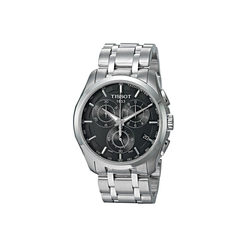 ティソ Tissot メンズ 腕時計【Couturier Chronograph - T0356171105100】Black/Grey