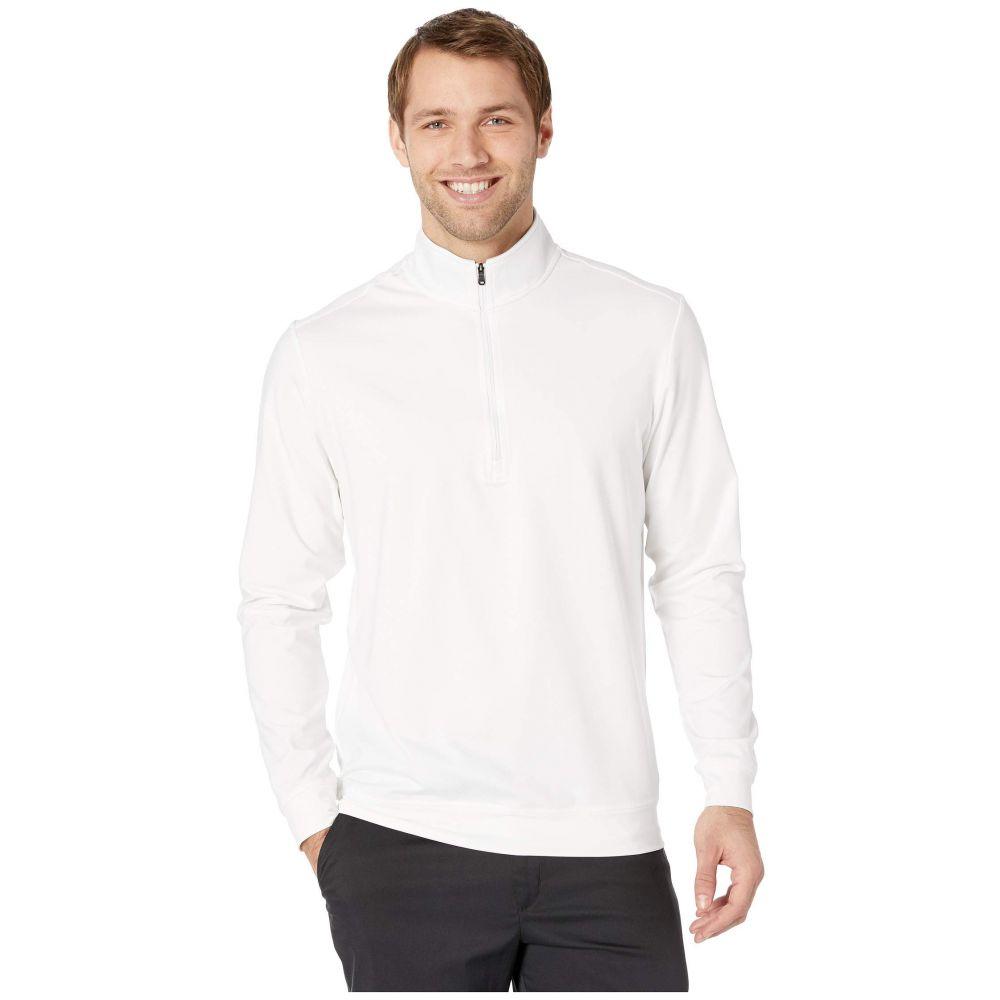アディダス adidas Golf メンズ トップス【Classic Club 1/4 Zip Pullover】White