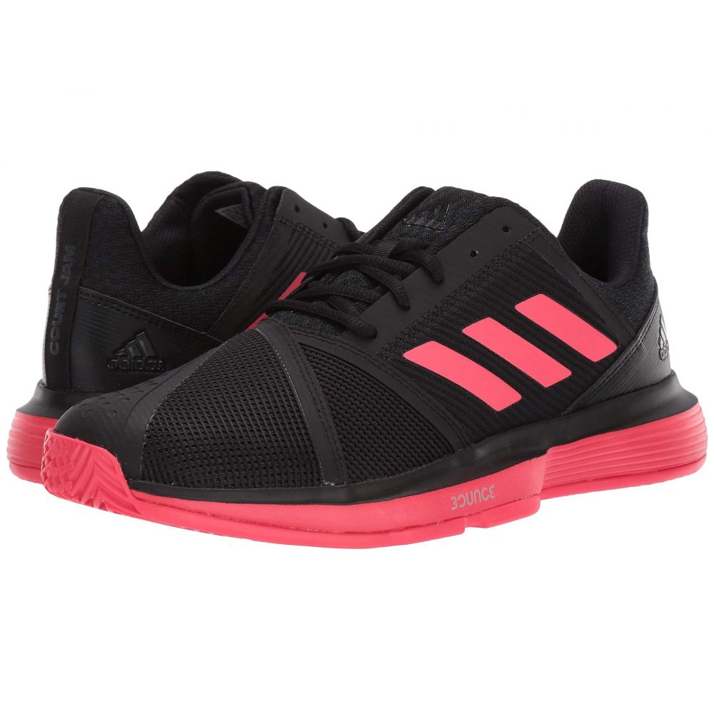 アディダス adidas メンズ テニス シューズ・靴【CourtJam Bounce】Core Black/Shock Red/Footwear White
