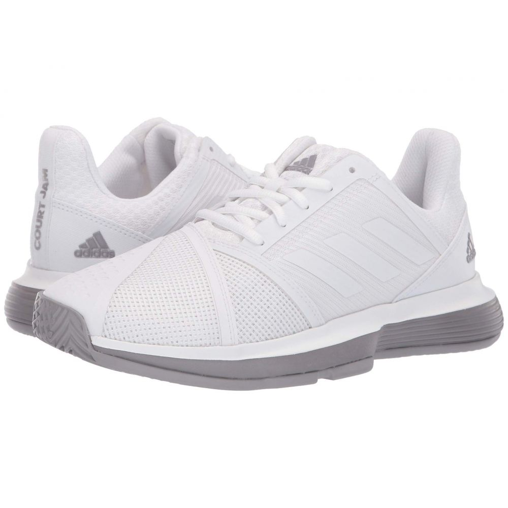 アディダス adidas レディース テニス シューズ・靴【CourtJam Bounce】Footwear White/Footwear White/Light Granite