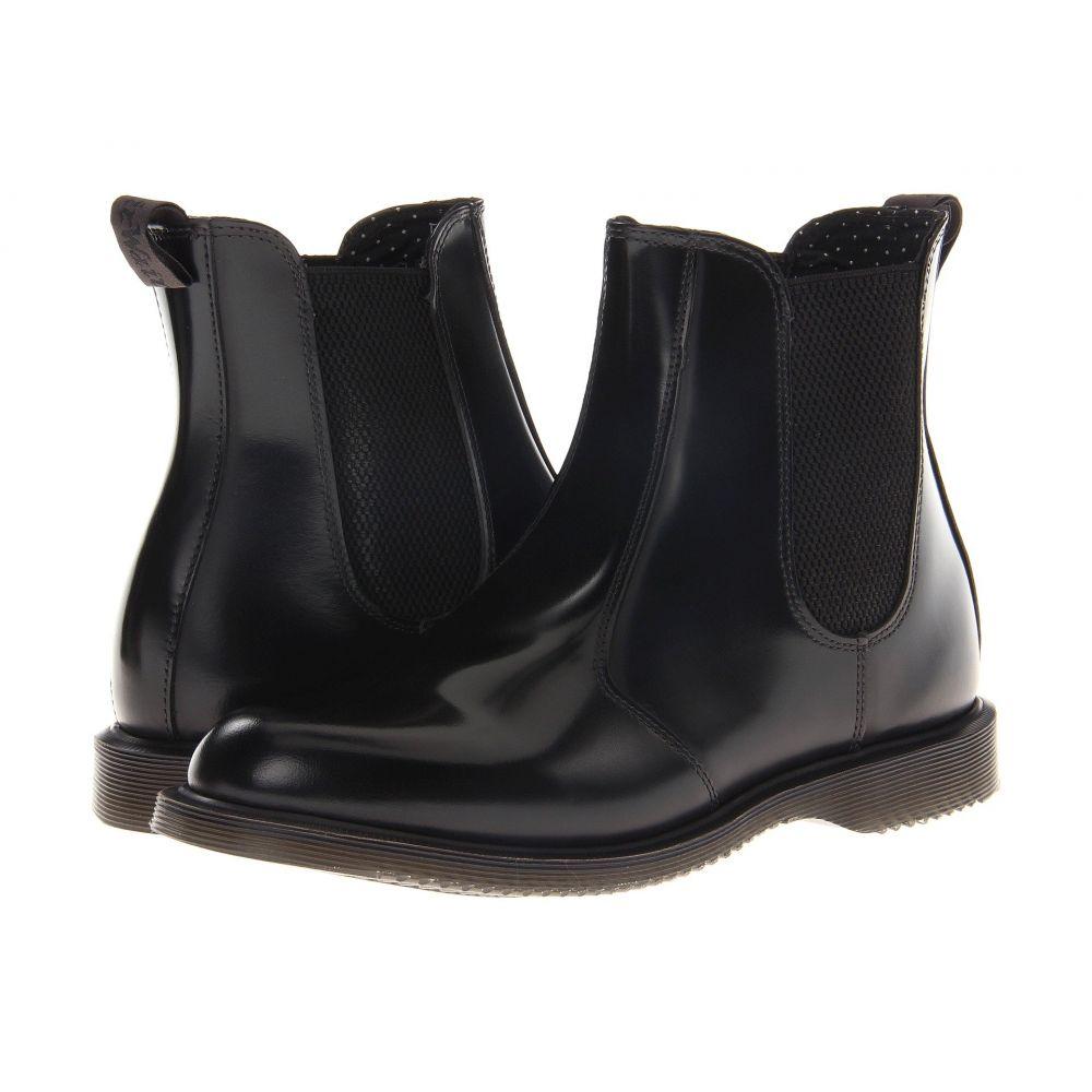ドクターマーチン Dr. Martens レディース シューズ・靴 ブーツ【Flora Chelsea Boot】Black Polished Smooth