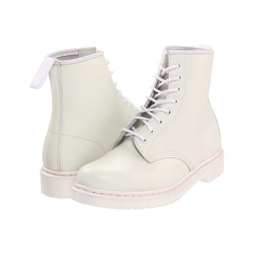 ドクターマーチン Dr. Martens レディース シューズ・靴 ブーツ【1460 8-Tie Boot】White Smooth