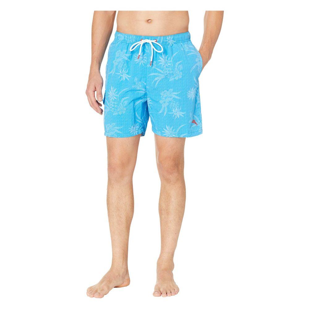 トミー バハマ Tommy Bahama メンズ 水着・ビーチウェア 海パン【Naples Huli Pineapple Swim Trunk】Blue Canal