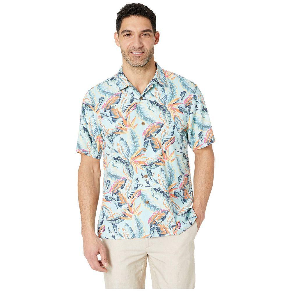トミー バハマ Tommy Bahama メンズ トップス シャツ【Break Wave Fronds Hawaiian Camp Shirt】Blue Swell