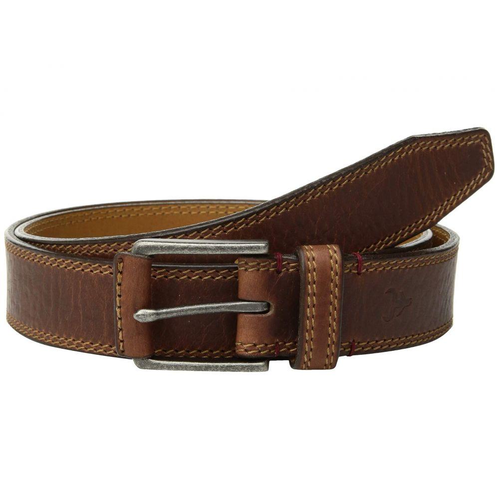 トラスク Trask メンズ ベルト【Gallatin Belt】Saddle Tan Bison