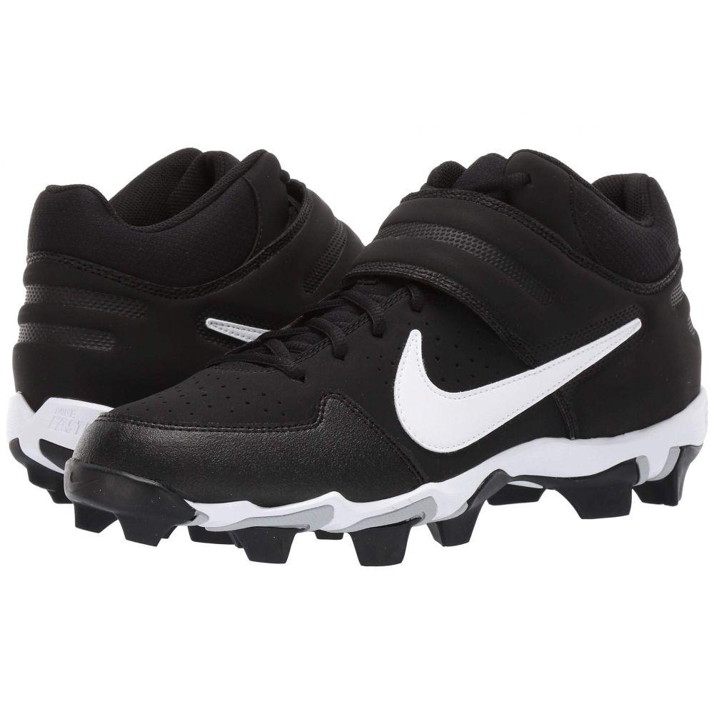 ナイキ Nike メンズ アメリカンフットボール シューズ・靴【Alpha Huarache Varsity Keystone Mid】Black/White/Black