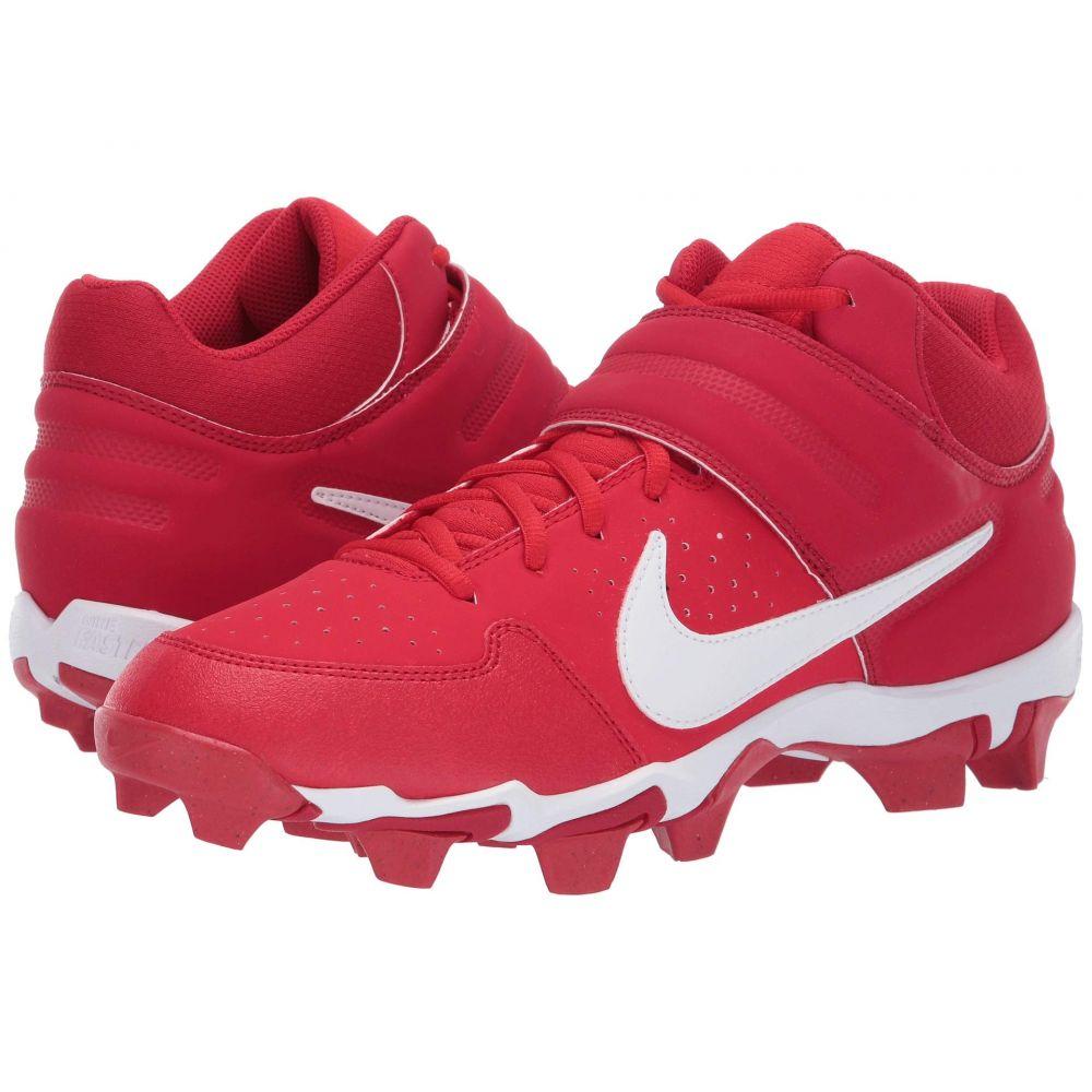 ナイキ Nike メンズ アメリカンフットボール シューズ・靴【Alpha Huarache Varsity Keystone Mid】University Red/White/Gym Red