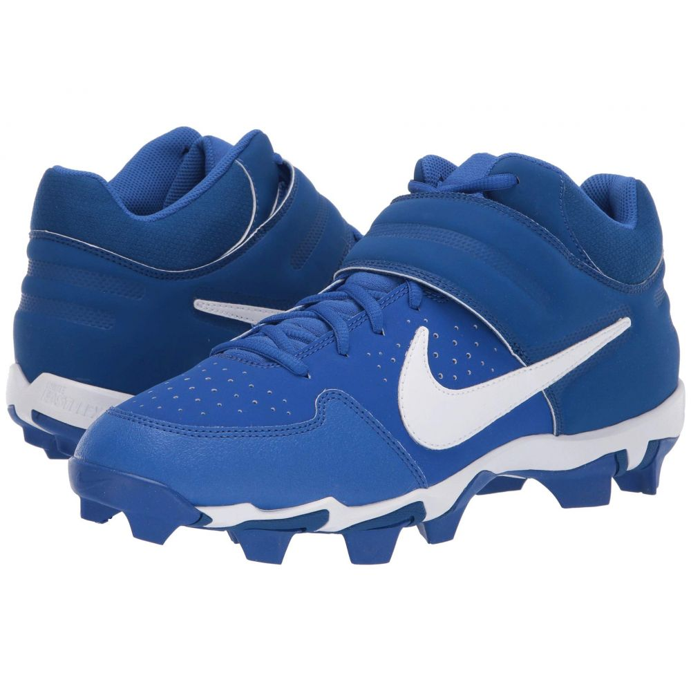 ナイキ Nike メンズ アメリカンフットボール シューズ・靴【Alpha Huarache Varsity Keystone Mid】Game Royal/White/Gym Blue