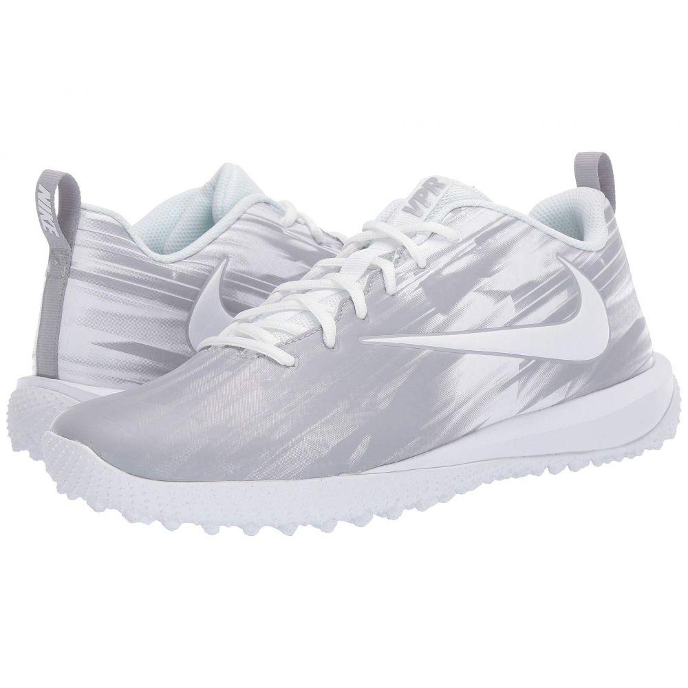 ナイキ Nike メンズ ラクロス シューズ・靴【Varsity Low Turf Lax】White/White/Wolf Grey