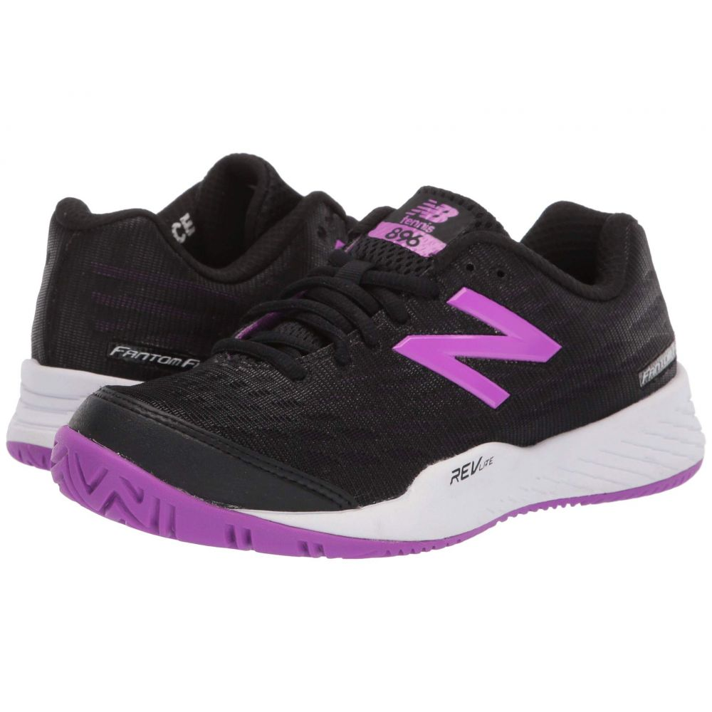 82f59c4b11d6c ニューバランス レディース テニス シューズ・靴 Black/Voltage Violet 【サイズ交換無料】 ニューバランス