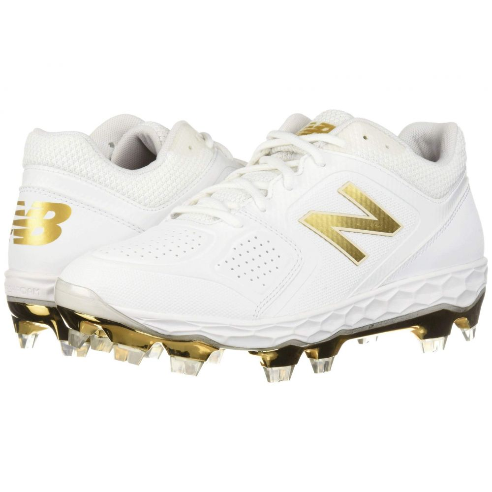 ニューバランス New Balance レディース 野球 シューズ・靴【Fresh Foam SPVELOv1】White/Gold