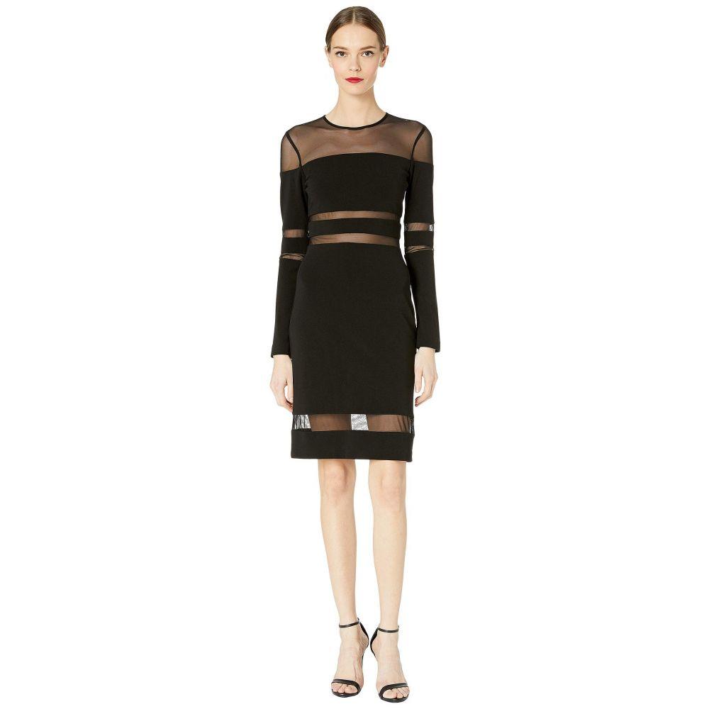 ニコルミラー Nicole Miller レディース ワンピース・ドレス ワンピース【Structured Heavy Jersey Mesh Combo Dress】Black