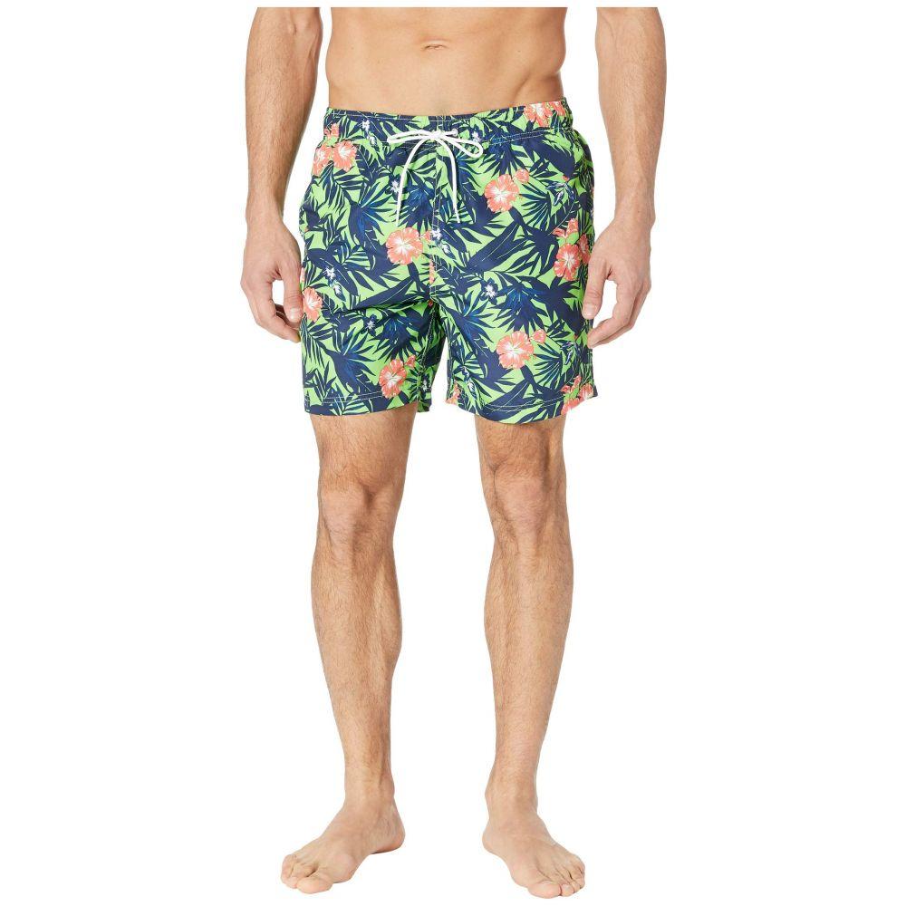 ノーティカ Nautica メンズ 水着・ビーチウェア 海パン【Floral Print Swim Trunk】Fresh Lime