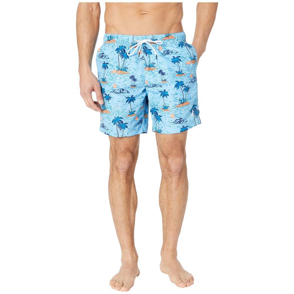 ノーティカ Nautica メンズ 水着・ビーチウェア 海パン【Hawaiian Print Swim Trunk】Alaskian Blue