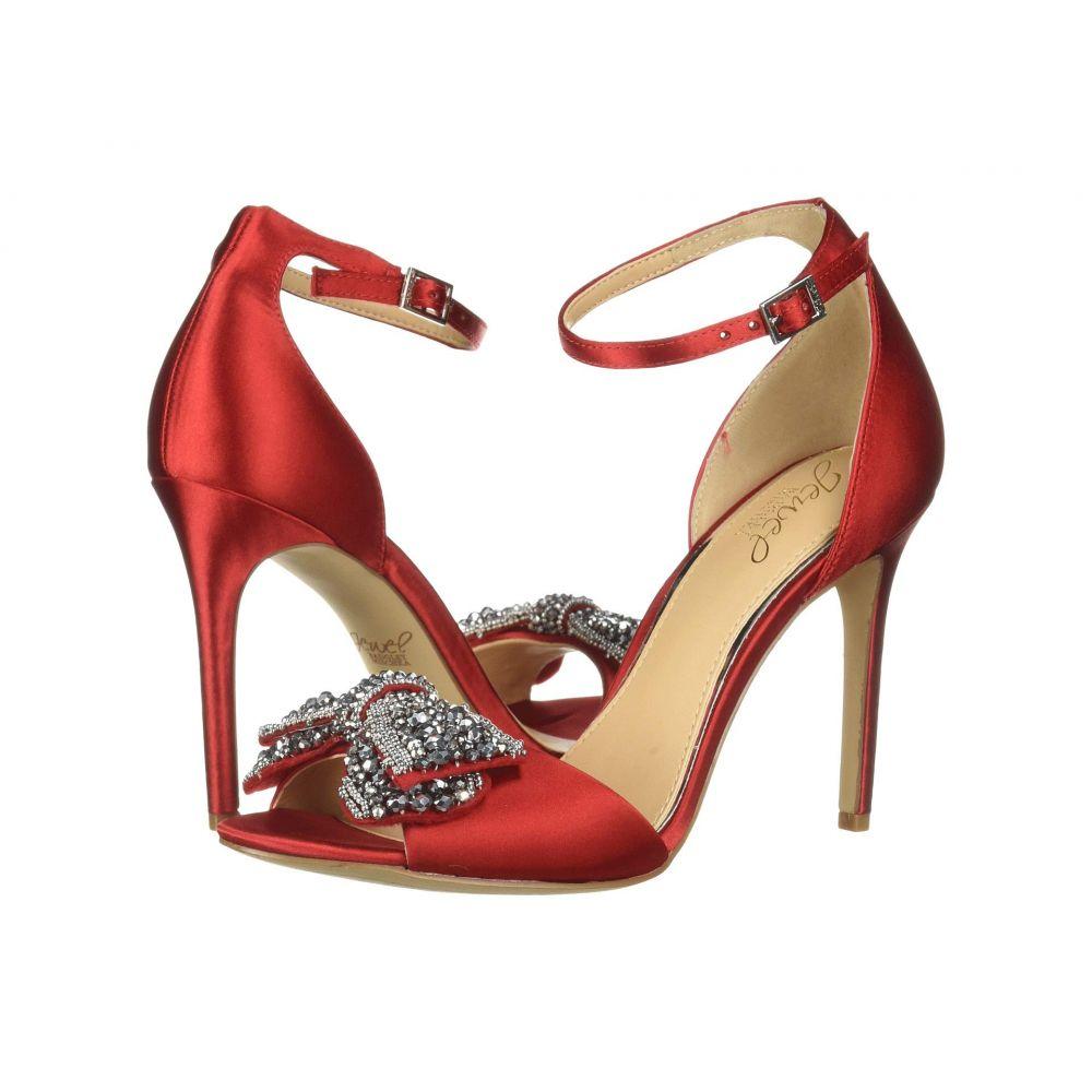 バッジェリー ミシュカ Jewel Badgley Mischka レディース シューズ・靴 ヒール【Zelina】Scarlet Red