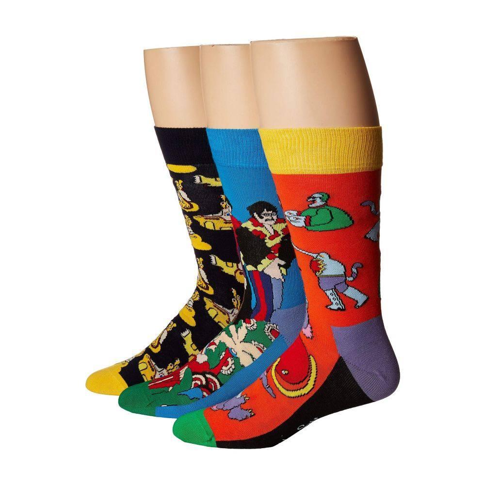 限定版 ハッピーソックス Happy Socks レディース インナー・下着 ソックス【Beatles EP Collector's Box 3-Pack】Assorted, 丸子町 f426fc07