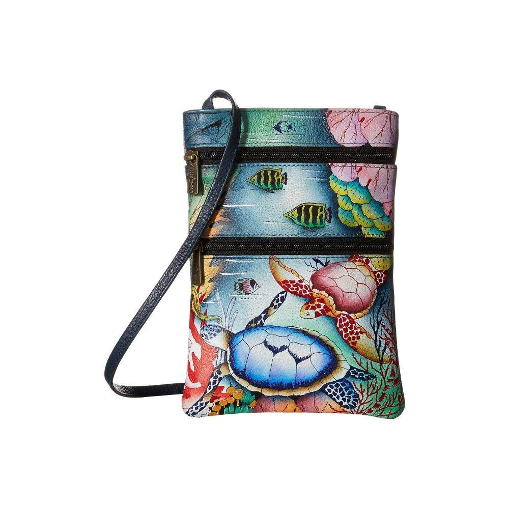 アヌシュカ Anuschka Handbags レディース バッグ ショルダーバッグ【448 Mini Double Zip Travel Crossbody】Ocean Treasures