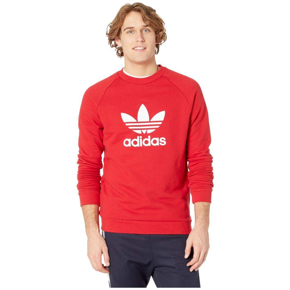 アディダス adidas Originals メンズ トップス スウェット・トレーナー【Trefoil Crew Sweatshirt】Power Red