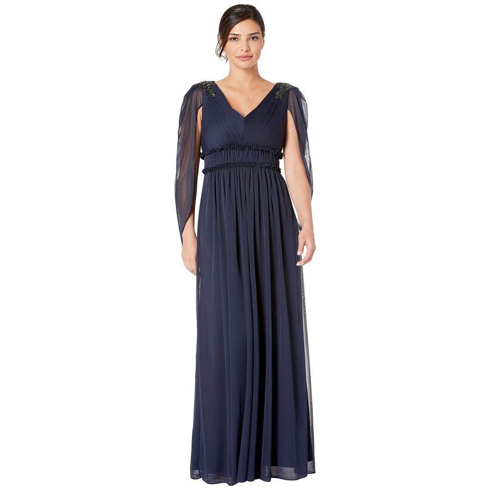 アドリアナ パペル Adrianna Papell レディース ワンピース・ドレス パーティードレス【Tulle Evening Gown】Midnight