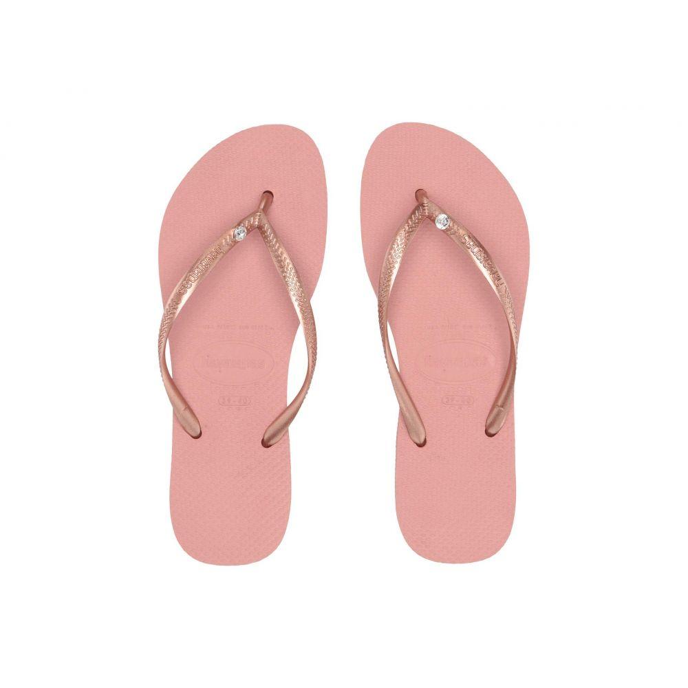 ハワイアナス Havaianas レディース シューズ・靴 ビーチサンダル【Slim Crystal Glamour SW Flip Flops】Rose Nude