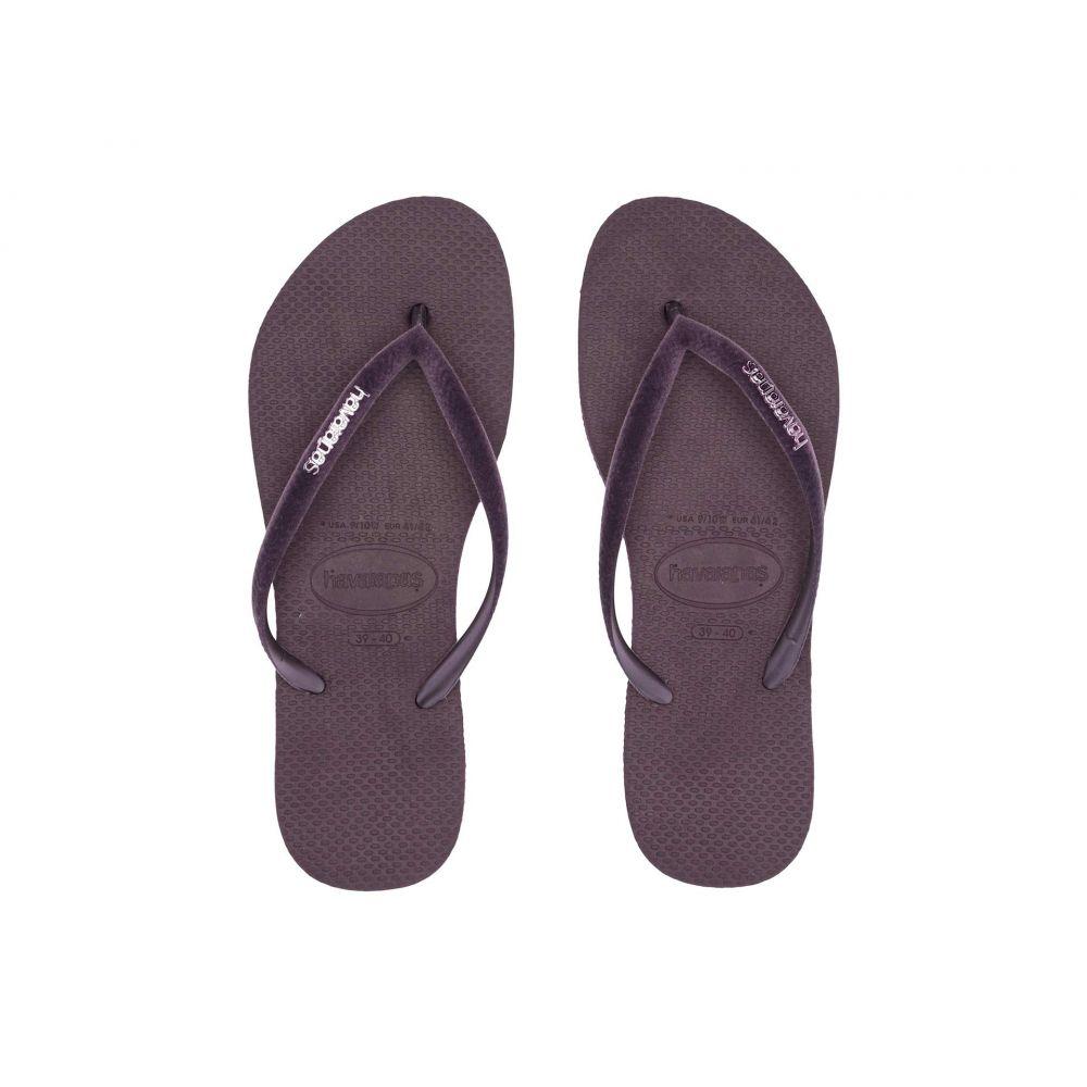 ハワイアナス Havaianas レディース シューズ・靴 ビーチサンダル【Slim Velvet Flip-Flops】Aubergine