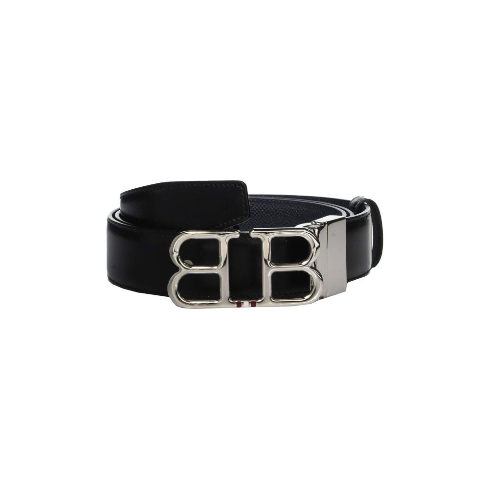 バリー Bally メンズ ベルト【Adjustable/Reversible Double B Belt】Black/New Blue
