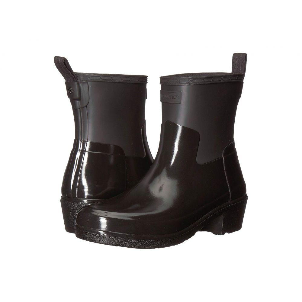ハンター Hunter レディース シューズ・靴 ブーツ【Refined Low Heel Biker Gloss Duo】Black