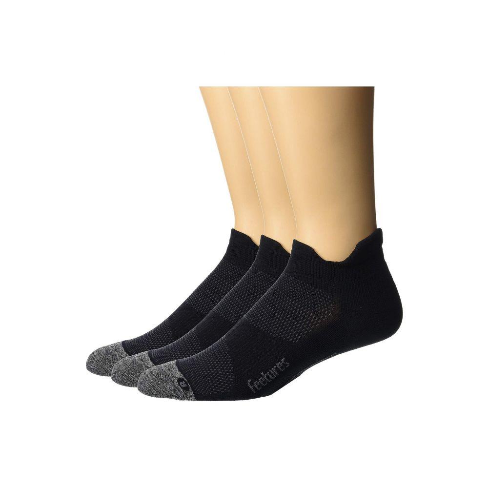 【ネット限定】 フィーチャーズ Feetures レディース インナー・下着 ソックス【Elite Light Cushion No Show Tab 3-Pair Pack】Black, キッチン倉庫 iZUMiYA 62ca3b86