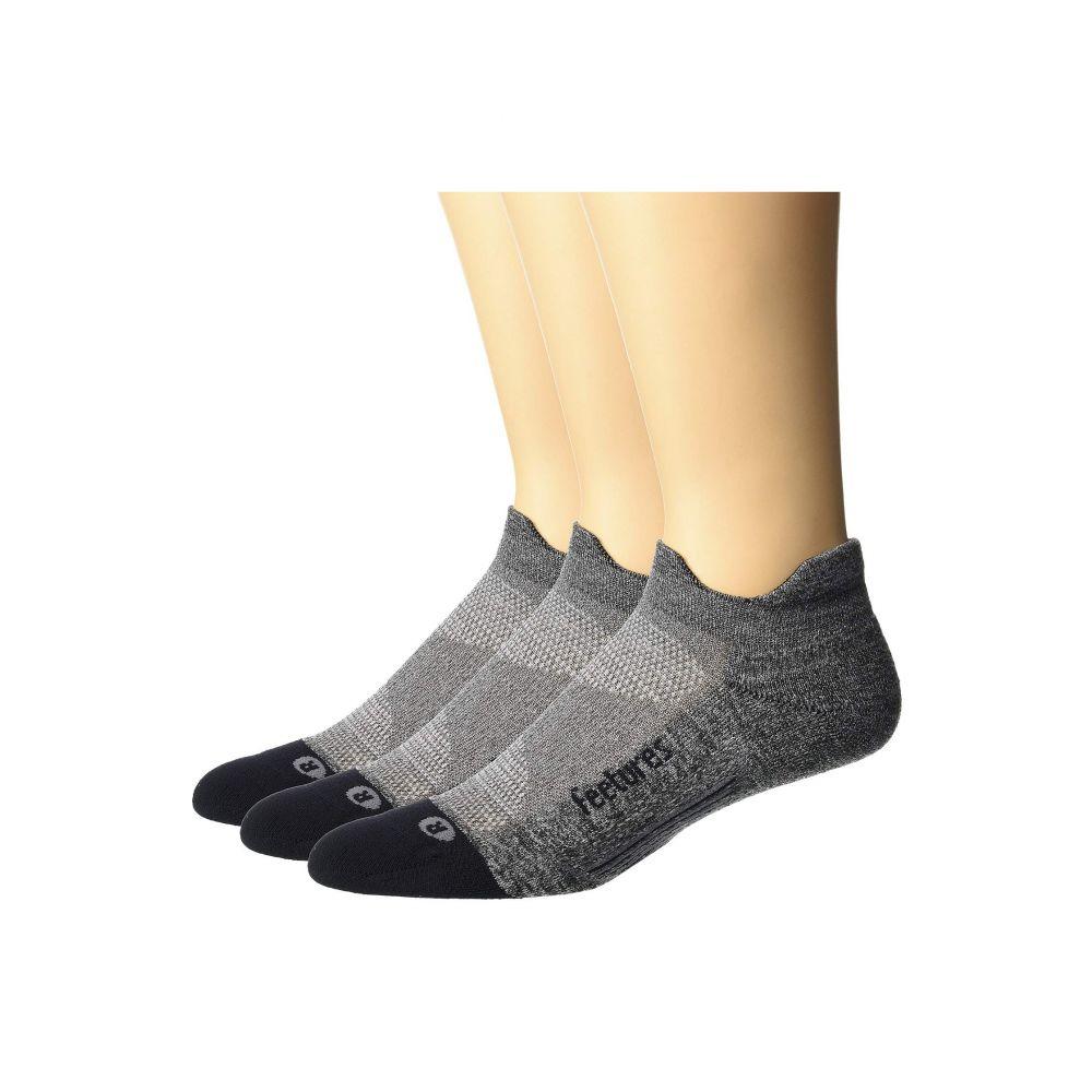 フィーチャーズ Feetures レディース インナー・下着 ソックス【Elite Light Cushion No Show Tab 3-Pair Pack】Gray