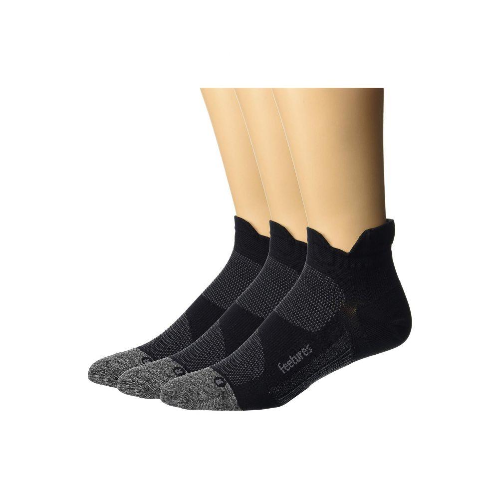 【楽ギフ_包装】 フィーチャーズ Feetures レディース インナー・下着 ソックス【Elite Ultra Light No Show Tab 3-Pair Pack】Black, パーティードレス通販オトナGIRL d3f1e752