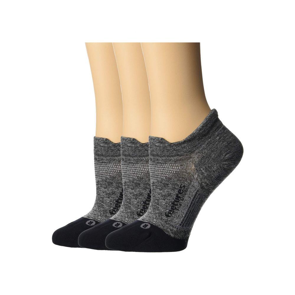 最新デザインの フィーチャーズ Feetures レディース インナー・下着 ソックス【Elite Ultra Light No Show Tab 3-Pair Pack】Gray, ProShop伊達 96ff27e0