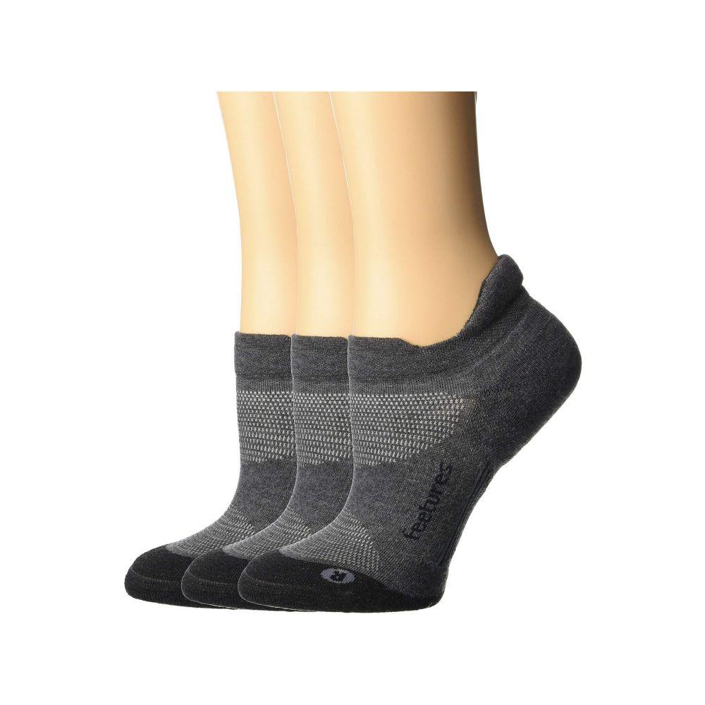 【GINGER掲載商品】 フィーチャーズ Feetures レディース インナー・下着 ソックス【Elite Max Cushion No Show Tab 3-Pair Pack】Gray, モモヤマチョウ a0436c53