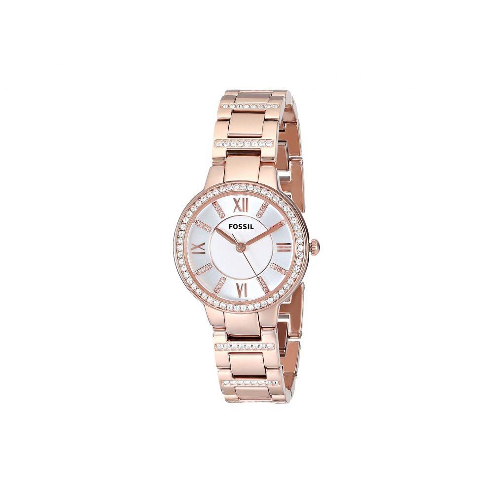 フォッシル Fossil レディース 腕時計【ES3284 Virginia Three Hand Stainless Steel Watch】Rosegold