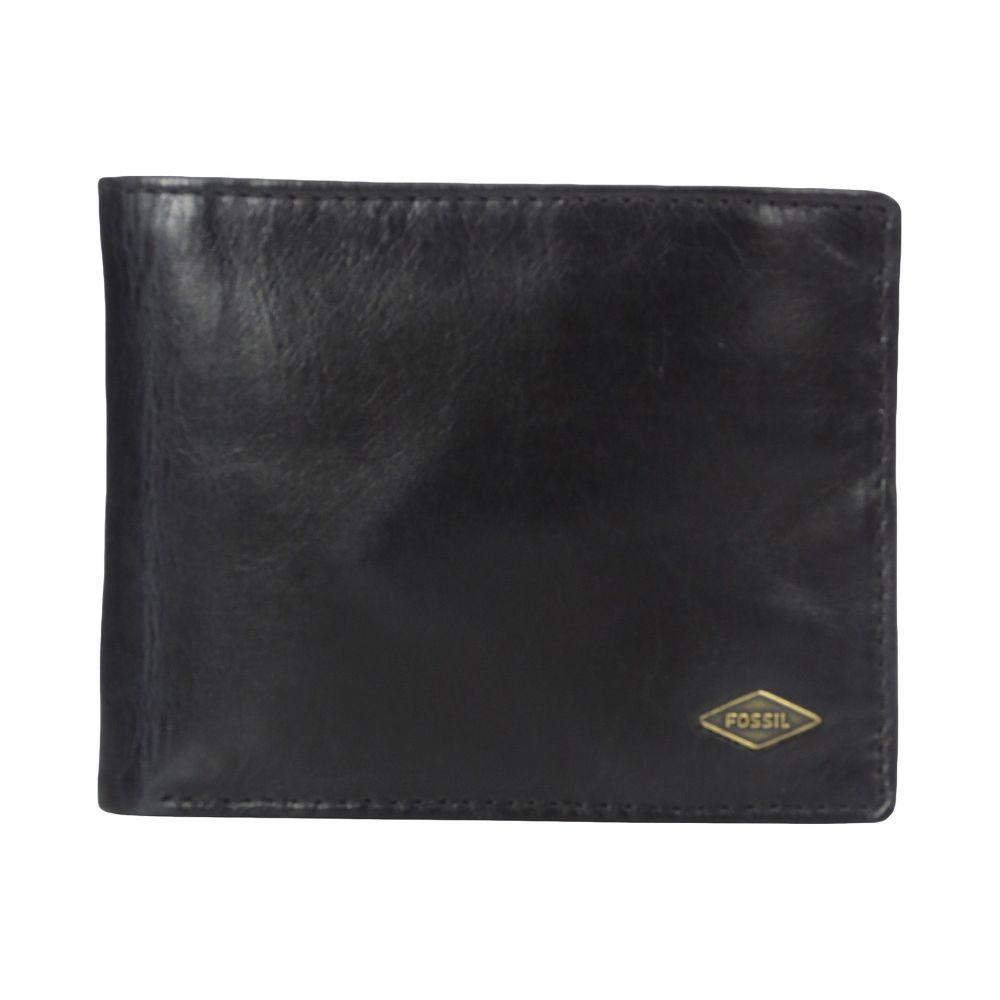 フォッシル Fossil メンズ 財布【Ryan RFID Leather Passcase Wallet】Black