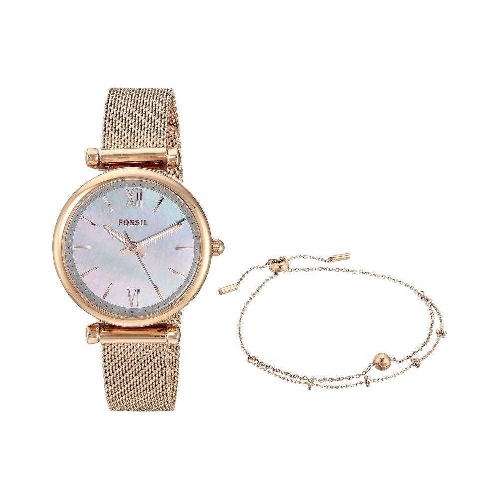フォッシル Fossil レディース 腕時計【Carlie - ES4443SET】Rose Gold