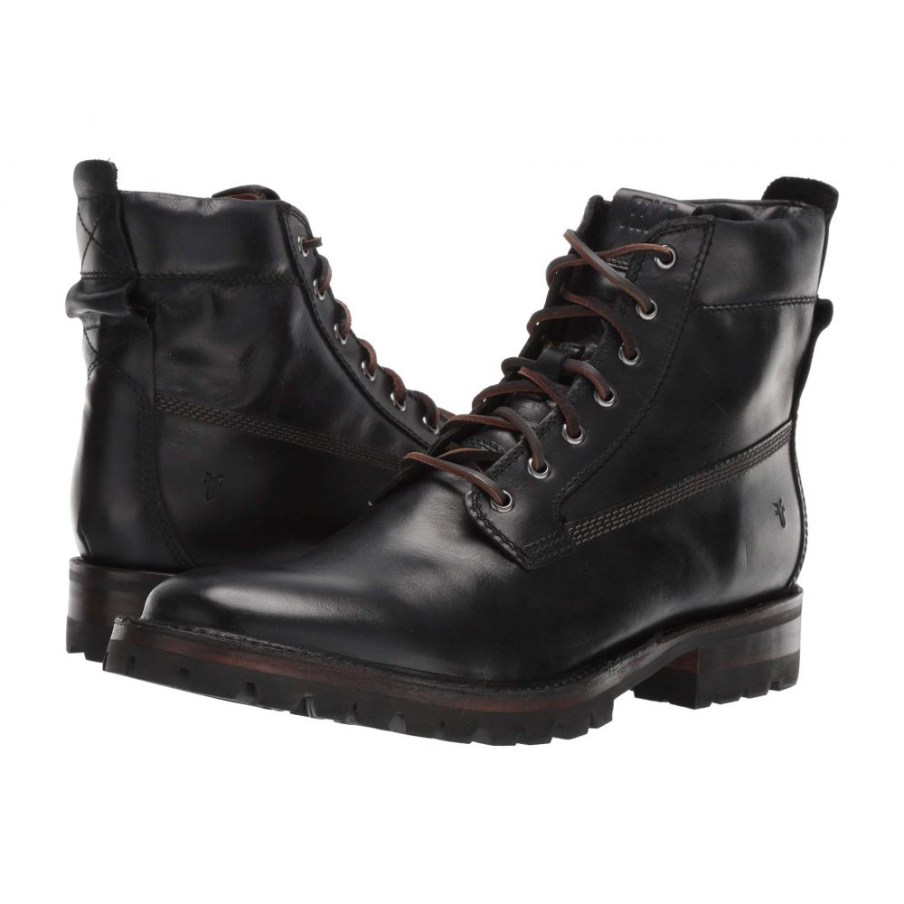 フライ Frye メンズ シューズ・靴 ブーツ【Union Workboot】Black WP Smooth Pull-Up