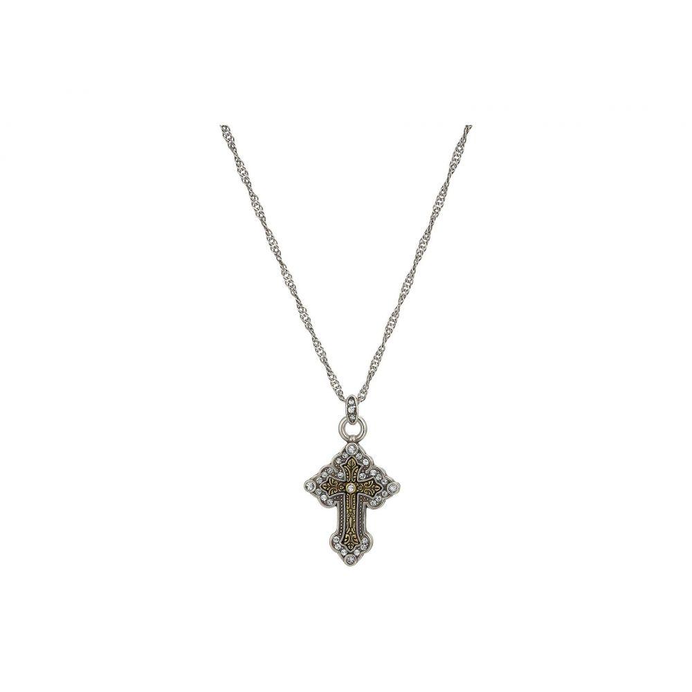 ブライトン Brighton レディース ジュエリー・アクセサリー ネックレス【Greek Petite Cross Necklace】Two-Tone