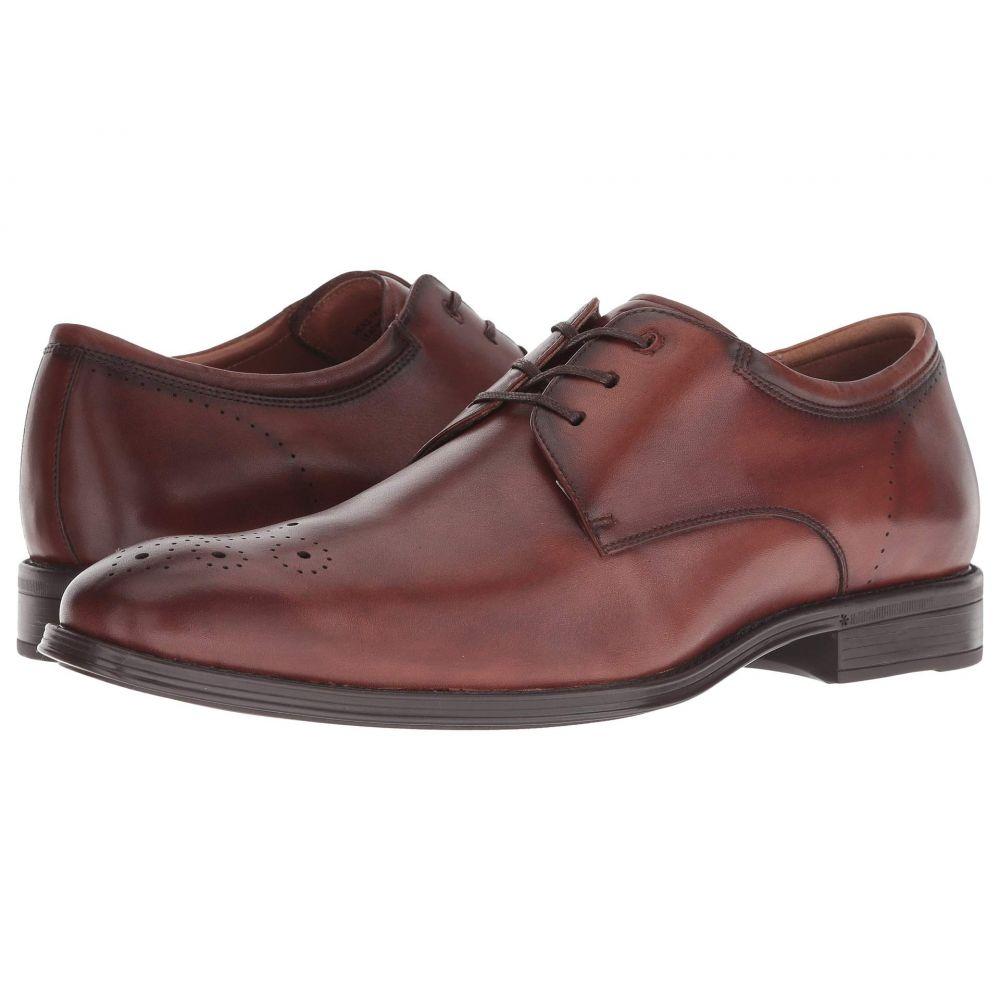フローシャイム Florsheim メンズ シューズ・靴 革靴・ビジネスシューズ【Amelio Perforated Toe Oxford】Cognac Smooth