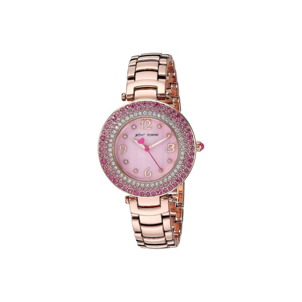 ベッツィ ジョンソン Betsey Johnson レディース 腕時計【37BJ00699-01BX Pink Crystals】Rose Gold