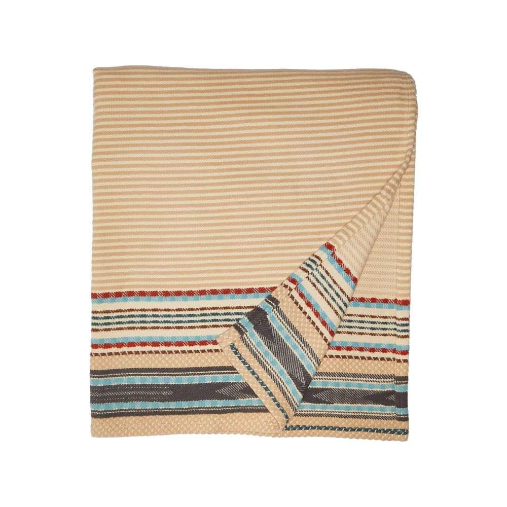 ペンドルトン Pendleton レディース 雑貨【Organic Cotton Jacquard Blanket - Queen】Escalante Ridge Camel