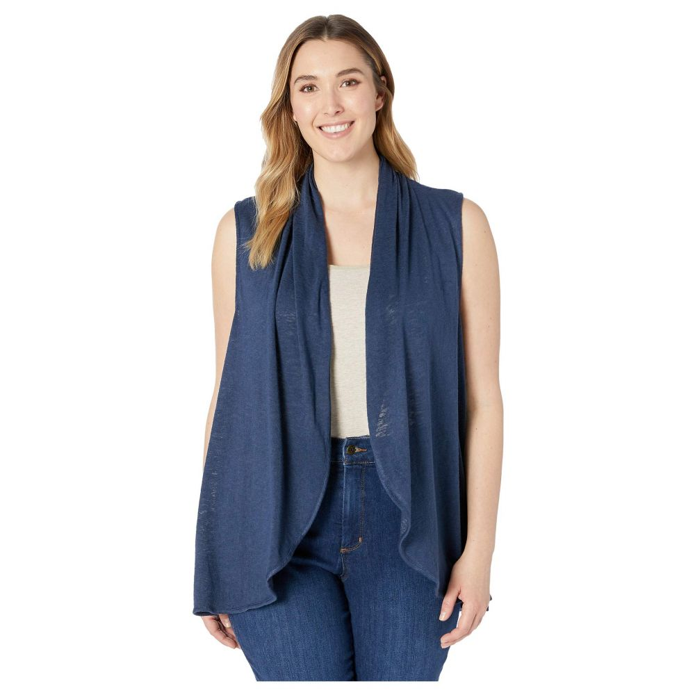 ボボウ B Collection by Bobeau レディース トップス ベスト・ジレ【Plus Size Kori Shawl Collar Vest】Navy