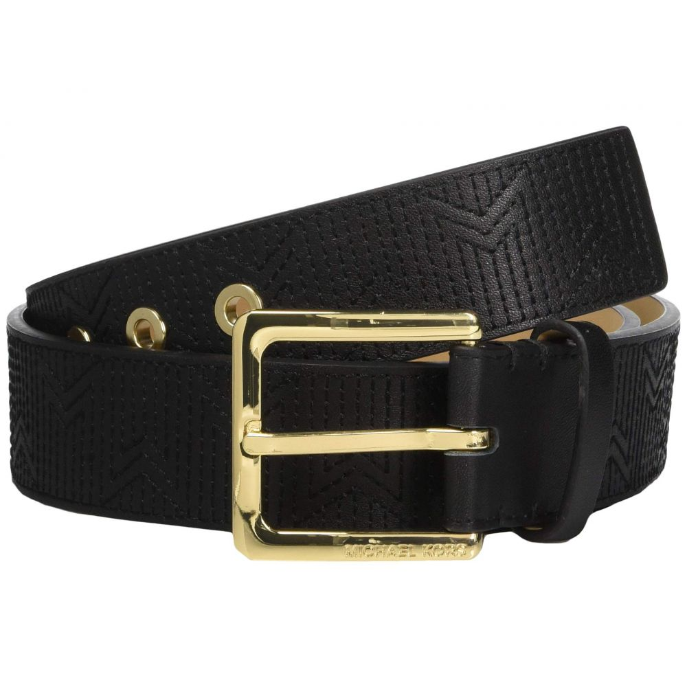 マイケル コース MICHAEL Michael Kors レディース ベルト【38 mm (1.5) Deco M Quilt Belt】Black/Light Polished Gold