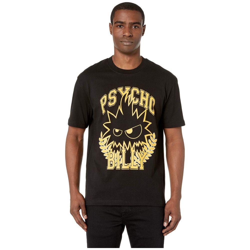 マックイーン McQ メンズ トップス Tシャツ【Psycho Dropped Shoulder T-Shirt】Darkest Black