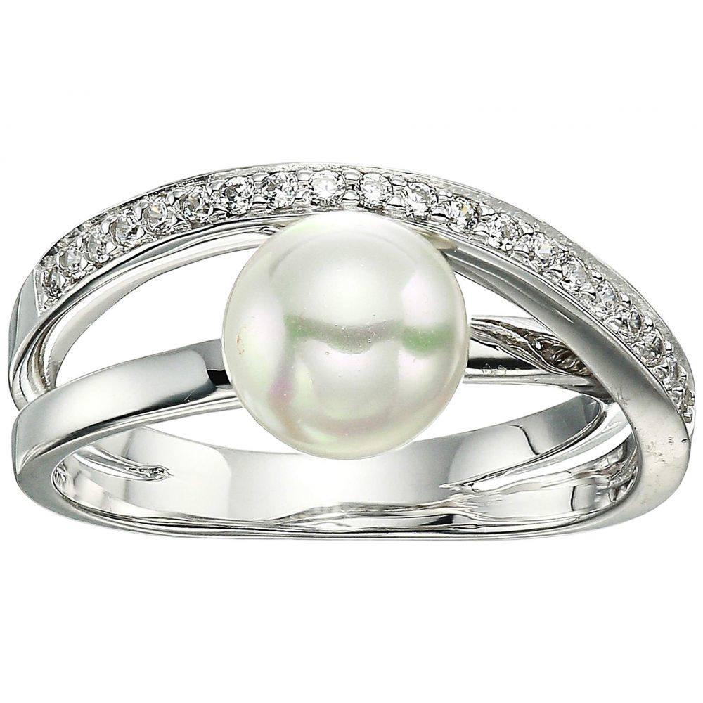 マジョリカ Majorica レディース ジュエリー・アクセサリー 指輪・リング【Eternity Rings 8mm White Pearl CZ Sterling Silver Ring】White