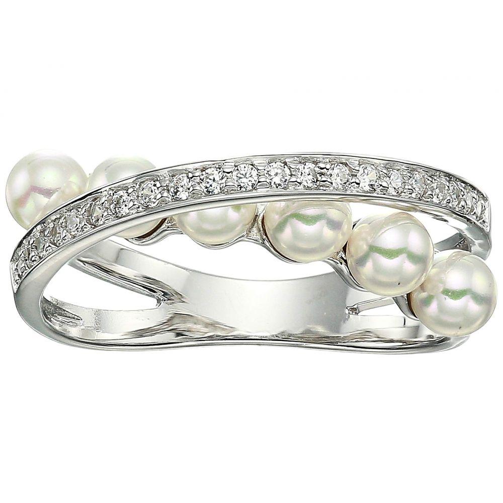 マジョリカ Majorica レディース ジュエリー・アクセサリー 指輪・リング【Eternity Rings 4 mm White Pearls CZ Sterling Silver Ring】White