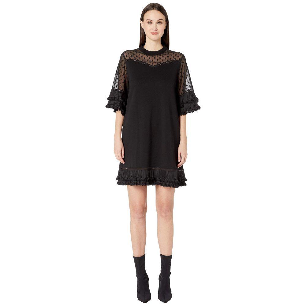 マックイーン McQ レディース ワンピース・ドレス ワンピース【Volume Ruffle Dress】Darkest Black