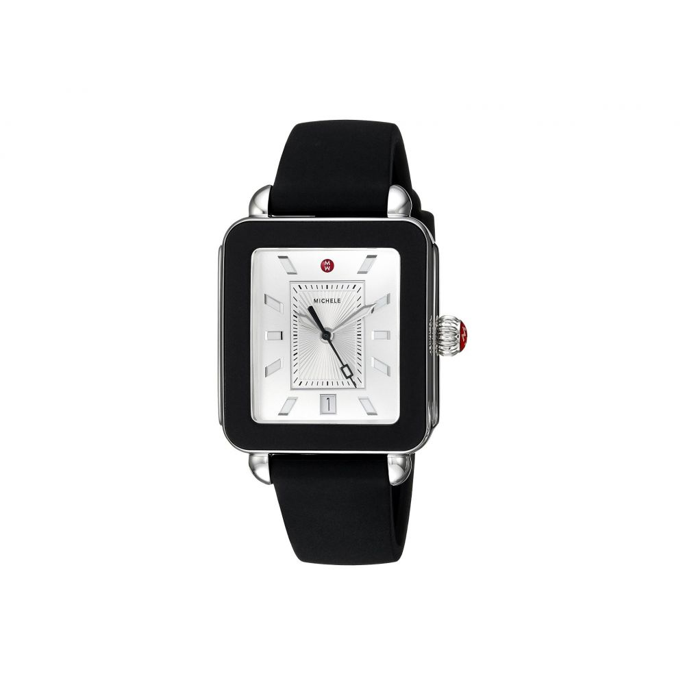 ミッシェル Michele レディース 腕時計【Deco Sport Black Silicone Watch】Black