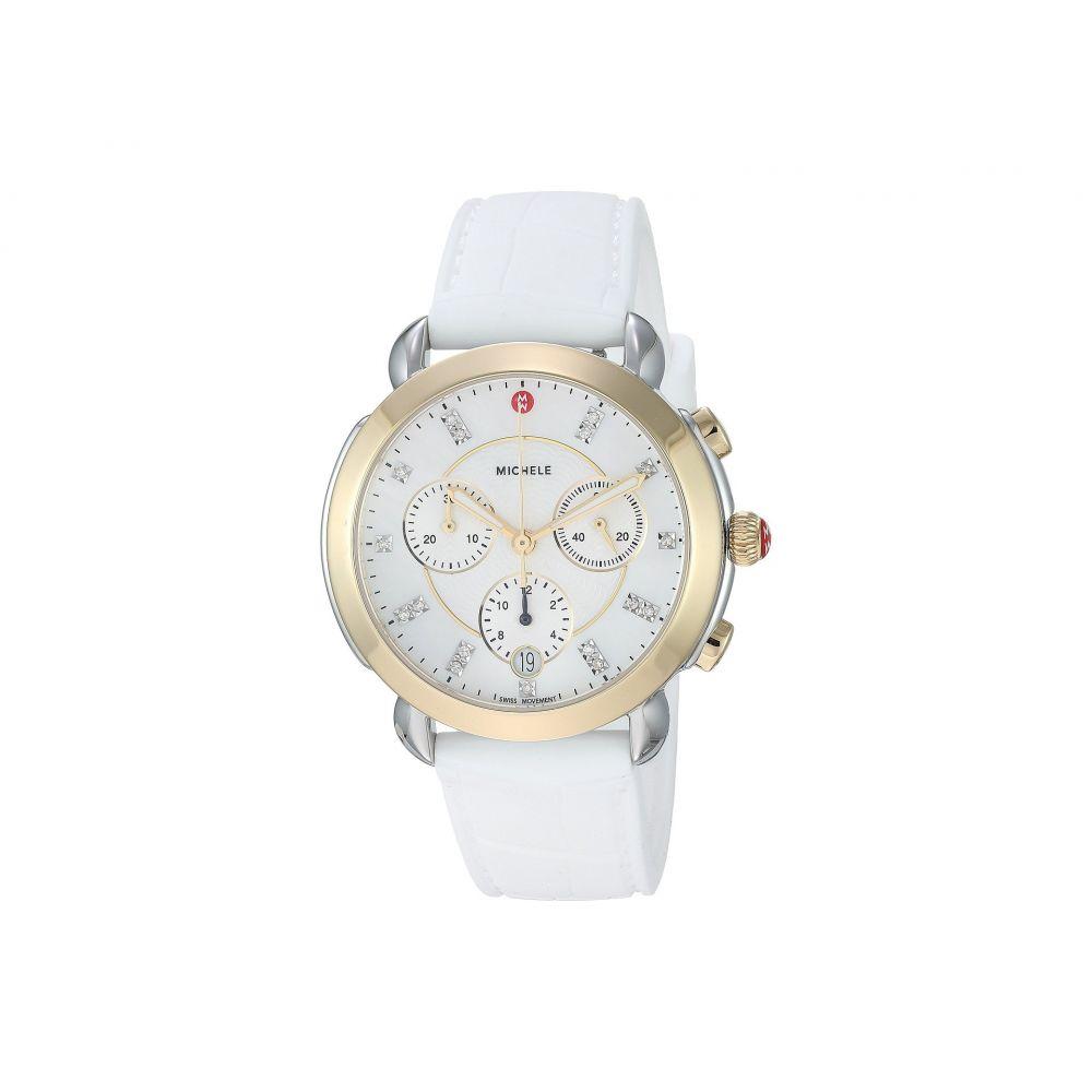 ミッシェル Michele レディース 腕時計【Sidney Two-Tone and White Silicone Diamond Dial Watch】White Silicone/Two-Tone